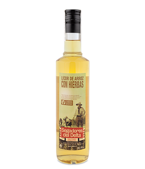 Licor de arroz con hierbas 50 cl.