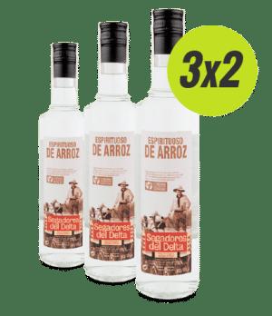 Pack 3 botellas de espirituoso de arroz. Oferta 3x2