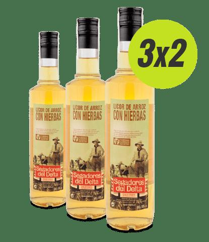 Pack 3 botellas de licor de arroz con hierbas. Oferta 3x2