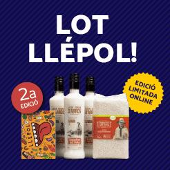 Lot 3 ampolles de licor d'arròs + arròs marisma i joc Llépol de regal